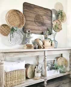 decor jacksonville fl decor jars comes after farmhouse decor decor rules decor for bedroom decor trends 2019 decor easter decor yellow Home Decor Baskets, Basket Decoration, Baskets On Wall, Farmhouse Baskets, Modern Farmhouse Decor, Farmhouse Style, Farmhouse Ideas, Interior House Colors, Home Interior
