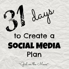 31 Days to Create a Social Media Plan
