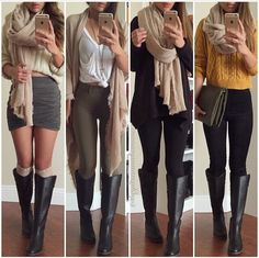 Casual winter outfit with scarf
