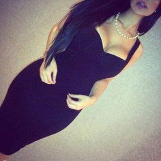 little black dress, for the curvy hour glass figure.