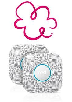 Nest Protect slimme rookmelder Smart Home, Nest, Symbols, Letters, Smart House, Nest Box, Letter, Lettering, Glyphs