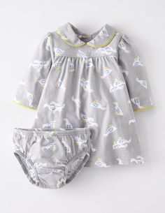 I've spotted this @BodenClothing Pretty Collar Jersey Dress Seal Grey Baby Geese