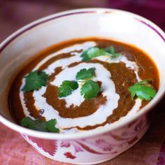 Lentil-Chili Soup with Divine Orange Sherry Cream  -- seriously good on a rainy day