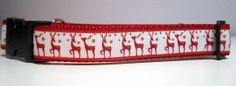Reindeer Dog Collar, by caninedesign
