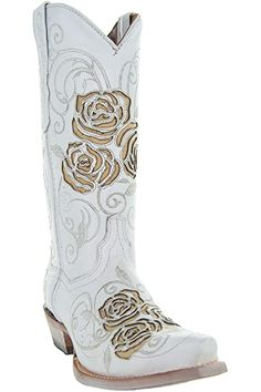Amazon.com | Soto Boots Women's Jasmine Floral Square Toe Cowgirl Boots M50043 (Tan, 5.5 B(M) US) | Mid-Calf Cowgirl Look, Cowgirl Wedding, Country Concert Outfit, Country Concerts, Cute Country Girl, Cute White Dress, Cute Ankle Boots, Studded Boots, Cool Countries