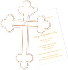 Cross Die-Cut Invitations