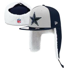 Men's New Era Dallas Cowboys Sideline Dog Ear 59FIFTY Football Structured Fitted Hat by New Era. $43.99. Raised NFL® team logo embroidered on frontPlush, contrast-colored flaps come down over ears or connect at top with VELCRO® brand closure. Structured, fitted cap. NFL® Shield embroidery on back and interior flap remain visible even when flap is raised Stitched New Era® logo on left side Eyelets for ventilation. Moisture-absorbing interior sweatband Officially licensed Mad...