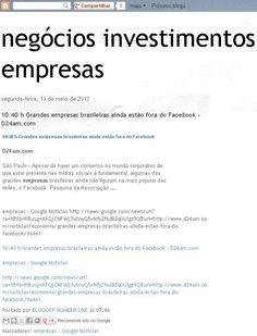 Blog Negócios Investimentos Empresas