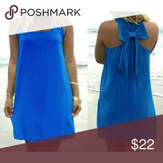 """Closet Best Seller """"Last One"""" 5☆ Rated Gorgeous chiffon bow back dress with underneath slip protection. Many 5 stars and closets Best seller. Get yours before it's gone!!  Nip  Bundles welcome great discounts  No rude comments or you will be blocked Reasonable offers only Retail Chic  Dresses Mini"""