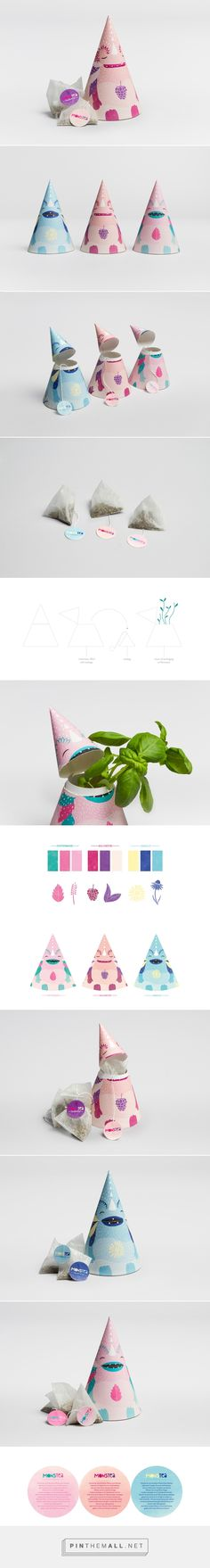 Monstea – Tea Packaging for Kids on Behance by Yvonne Moser Würzburg, Germany curated by Packaging Diva PD.  The cutest repurposed tea packaging for the smile file : )