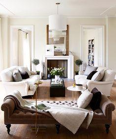 #FarrowandBall #Clunch has a warmth and timeless elegance ideal for a #familyroom. (photo: @remodelista / Jessica Speeckaert)