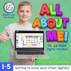 Helping your students get to know one another is important. This online, digital All About Me book is a fun and engaging way for you and your students to get to know each other. You can share this with your students through Google Classroom and they will have their own personal All About Me Book. A Quality resource from a name you trust.