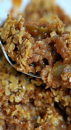 Apple Crisp Recipe ~ if you are looking for an Apple Crisp Recipe that immediately makes you want to cozy up by the fire after enjoying a beautiful fall day, then this is it! Of course, a scoop of ice cream takes it right on over the top! // addapinch.com