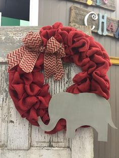 University of Alabama Door Wreath