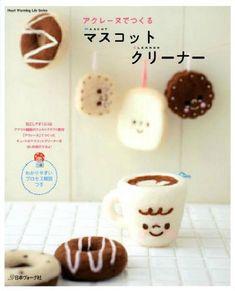 Needle Felt Make Lovely Charm Craft with Aclaine Fiber  --- Japanese Wool Felt Craft Book