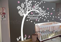 Wall Decals Nursery  Nursery wall decal  Tree by secretofthecat