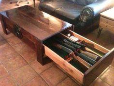 Coffee Table Gun Storage