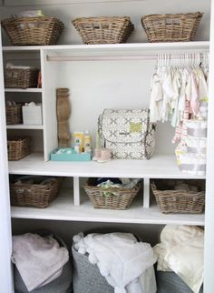 We love a well-organized closet for baby! #nursery #organization #closet