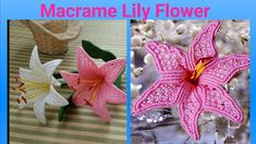 How To Make macrame flower/ Macrame Lily Flower / DIY Paper Flowers For Kids, Diy Flowers, Flower Diy, Macrame Toran, Macrame Art, Hanging Flower Wall, Micro Macramé, Macrame Plant Hangers, Macrame Patterns