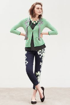 Megaflora Charlie Trousers - stripes and floral