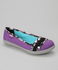 Take a look at this Purple Hyper-Lite Flat - Women by Cushe on #zulily today!