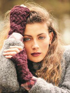 Knit these lovely little cabled fingerless gloves by Lisa Richardson using Rowan Alpaca Classic, a soft, lightweight. Lisa Richardson, Knitting Patterns, Crochet Patterns, Fingerless Mitts, Autumn Theme, Rowan, Arm Warmers, Knit Crochet, Dreadlocks
