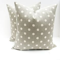 Gray Throw Pillows Gray and White Pillow Covers by EastAndNest, $36.00