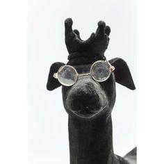 """Διακοσμητική Φιγούρα Studiosus Dog Flock Black Η κομψή φιγούρα ενός ¨διανοούμενου"""" σκύλου που θα σας συντροφεύει και θα διακοσμεί τον χώρο σας.Υλικό : polyresin floking Flocking, Dog Lovers, Puppies, Sunglasses, Dogs, Style, Swag, Cubs, Pet Dogs"""