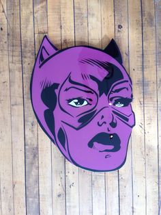 """Cat Woman"" by Jason Rowland  Aerosol, stencil and poly resin coating on wood  Available at GalerieF.com"