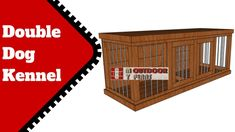Build A Dog House, Dog House Plans, Double Dog House, Diy Videos, Large Dogs, How To Plan, Pets, Big Dogs, Animals And Pets
