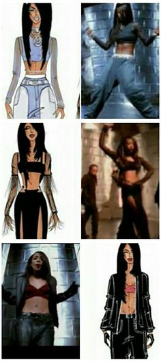 Are You That Somebody #Aaliyah #1998 #Outfits