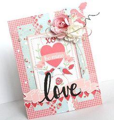 """LOVE"" Card by Kaori Fujimoto Design Team for Kaisercraft (""XO"" Collection) ~ Cards1."