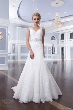 lillian west 2014 bridal style 6302 beaded waist sleeveless wedding dress