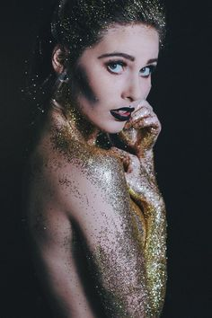 .Gold Glitter Rains Over Me