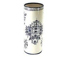 Portavaso in ceramica dipinto a mano Diana - 13x34x13 cm