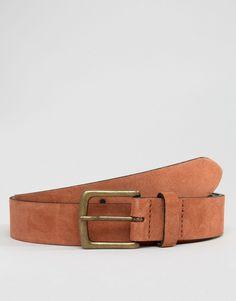 ASOS+Suede+Belt+In+Rust