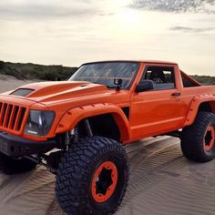 Jeep truck with some modifications. Jeep Cherokee Xj, Jeep Xj, Jeep Truck, Jeep Wrangler, Jeep Srt8, Cherokee Sport, Custom Jeep, Custom Trucks, Custom Cars