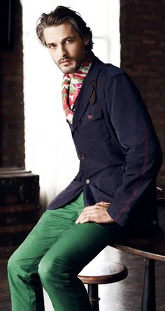 Ben Hill Dons Sportswear Collections for El Palacio de Hierro Mens Formal Coats, Men Formal, Carolina Herrera, Green Fashion, Colorful Fashion, Ben Hill, Top Male Models, Sartorialist, Gentleman Style