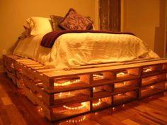 Eclairage romantique sous le lit