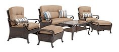 Lake Como Deep Seating Patio Furniture Set Khaki Tan 6 Piece by LaZBoy Outdoor *** Check this awesome product by going to the link at the image.(This is an Amazon affiliate link and I receive a commission for the sales)