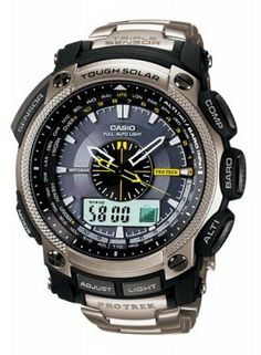 Looking sleek with an amazing titanium bracelet, the Casio protrek titanium Watches stays put on your wrist no matter what.