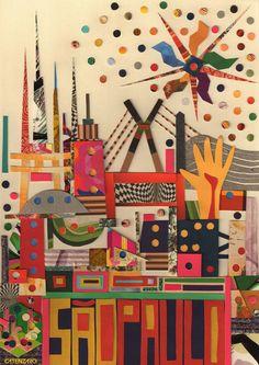 Paper Collage, brazilian artist Catenzaro.