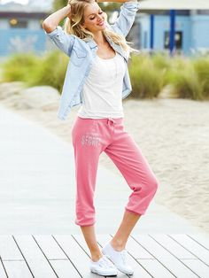 Supermodel Essentials Fleece Crop Pant #VictoriasSecret http://www.victoriassecret.com/whats-new/clothing/fleece-crop-pant-supermodel-essentials?ProductID=97029=OLS?cm_mmc=pinterest-_-product-_-x-_-x