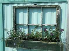 old windows.just retrieved 6 old windows out of the barn.they were in our house before we put in storm windows. This planter is on my list to do. Old Wood Windows, Reclaimed Windows, Recycled Windows, Vintage Windows, Barn Windows, Antique Windows, Vintage Window Decor, Garage Windows, Recycled Door