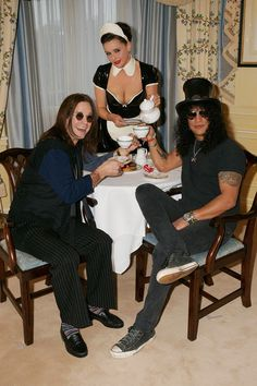Ozzy Osbourne Photos Photos: Ozzy Osbourne And Slash Enjoy Tea At The Dorchester Hotel People Drinking Coffee, Drinking Tea, Ozzy Osbourne, Black Metal, The Dorchester, Classic Rock And Roll, Cuppa Tea, Coffee Drinkers, My Cup Of Tea