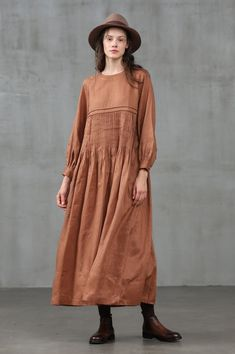 Simple Dresses, Casual Dresses, Casual Clothes, Modest Fashion, Fashion Dresses, Winter Dresses, Dress Winter, Summer Dresses, Linen Shirt Dress