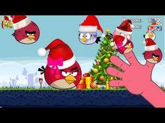 Finger Family Collection 160 | Christmas Angry Birds-Christmas Barbie Fi...