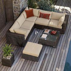 Nova Heritage Ciara Outdoor Rattan Garden Corner Dining Sofa Set