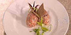 Finhakket blandet med rømme i tartar (bildet) er bare en av mange måter å tilberede rakfisk på. Tart, Steak, Beef, Snacks, Meat, Appetizers, Pie, Tarts, Steaks