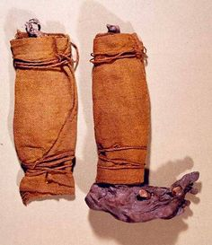Søgård Mose II, Viborg in Denmark. Iron age leg-wrappings.